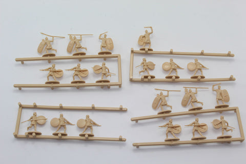 Used - HaT Carthaginian African Infantry. 19 pieces. 1/72 scale (AW21)