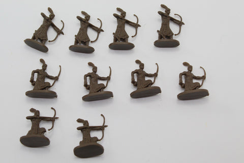 Used - Caesar Nubian Warriors. 10 pieces. 1/72 scale (AW22)