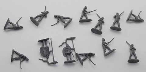 Used - HaT Dacian Warriors. 13 pieces. 1/72 scale (AW28)