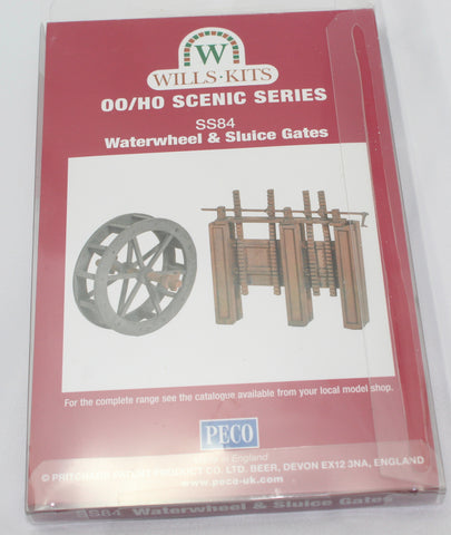 Wills Kits - SS84 Waterwheel & Sluice Gates. OO/HO Scenic Series