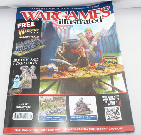Wargames Illustrated Issue 397 -  January 2021 - Used Condition - UK Only - NO FREE SPRUE