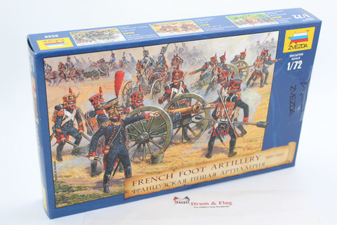 Zvezda Set 8028 - Napoleonic French Foot Artillery 1810-1815 - 1/72 Scale Plastic