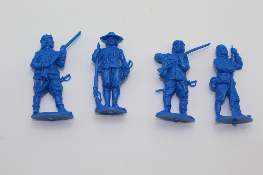 USED. A CALL TO ARMS ENGLISH CIVIL WAR MUSKEETERS X 4 FIGURES. 1/32 SCALE. (ECW9)