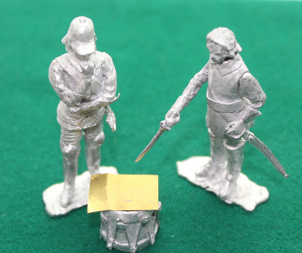 CROMWELL & FINNES. ECW. ALEXANDER'S TOY SOLDIERS. ATS METAL CASTINGS. 54mm Figures