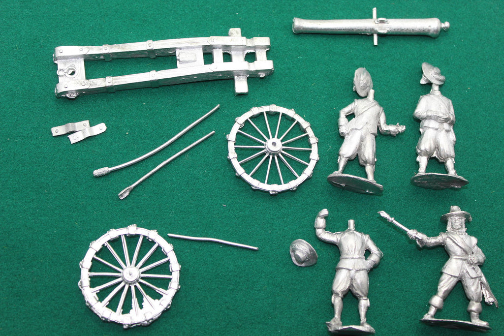 IRREGULAR MINIATURES - ECW CANNON & CREW - METAL CASTINGS. ECW 54mm