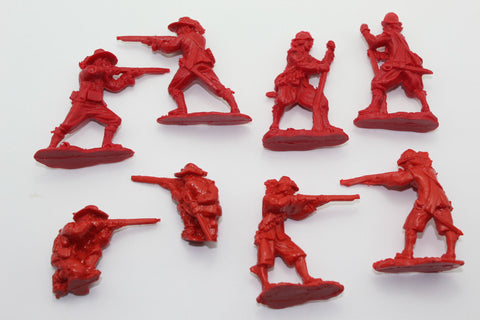 Replicants - English Civil War Musketeers. 8 figure set. 1/32 Scale. Red Plastic