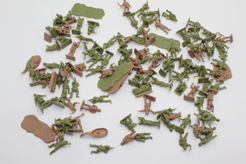 USED LOT. WW2 British Paratroopers. Airfix. 1/72 Scale. (JS49)