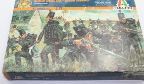 Used. Italeri 6083 Napoleonic British 95th Rifles. Green Jackets. 1/72 Scale. (KJ11)