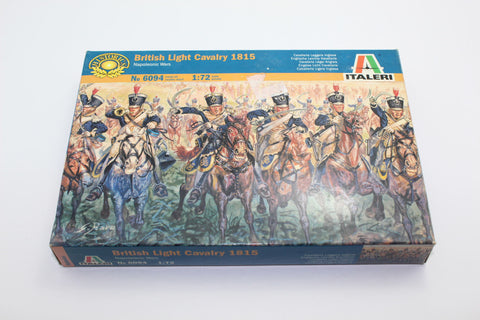 Used. Italeri 6094 Napoleonic British Light Cavalry 1815. 1/72 Scale. (KJ10)
