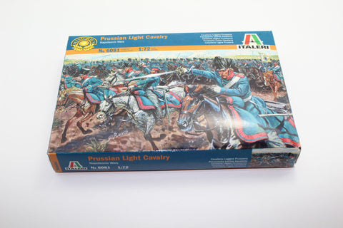 Used. Italeri 6081 Napoleonic Prussian Light Cavalry. 1/72 Scale. (KJ12)
