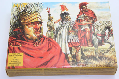 Used. HaT 8051. Punic War Republican Roman Command. 1/72 Scale. (KJ22)