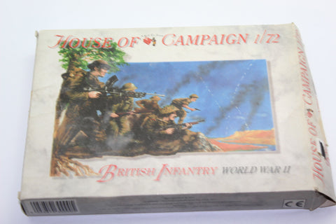 Used. A Call to Arms Set #52. WW2 (1950's Actually) British Infantry. 1/72 Scale. (KJ28)