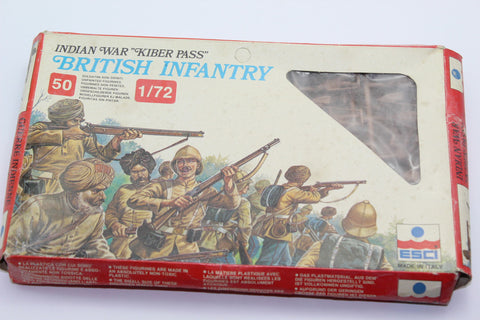 Used. Esci. British & Indian Infantry. Khyber Pass. 1/72 Scale. (KJ30)