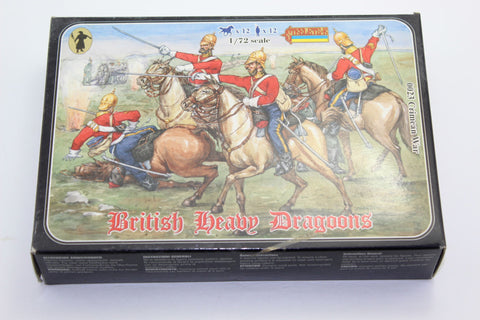 Used. Strelets. British Heavy Dragoons. Crimean War. 1/72 Scale. (KJ31)