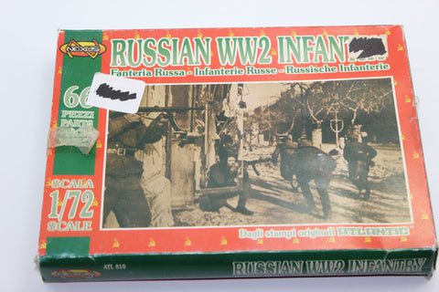 Used. Nexus ATL010. WW2 Russian Infantry. 1/72 Scale. (KJ36)