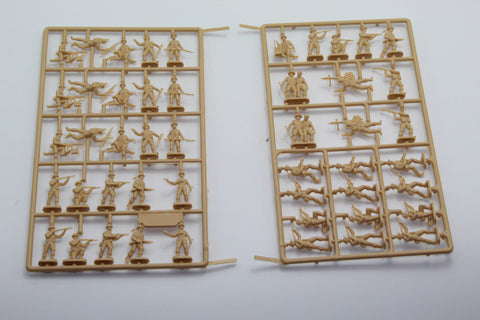 USED. Esci/Italeri. WW2 British Infantry. No Box. 1/72 Scale. (KJ57)