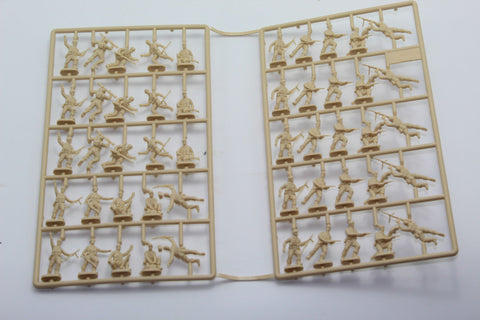 USED. Esci/Italeri. WW2 British Commandos. No Box. 1/72 Scale. (KJ58)