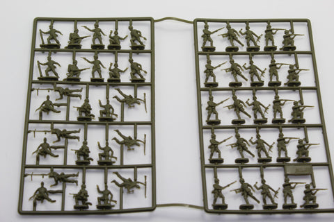 USED. Esci/Italeri. WW2 German Afrika Korps. No Box. 1/72 Scale. (KJ59)