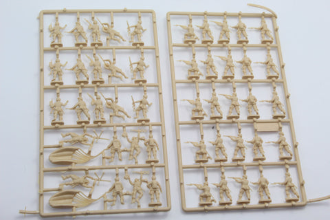 USED. Esci/Italeri. WW2 US Paratroopers. No Box. 1/72 Scale. (KJ61)