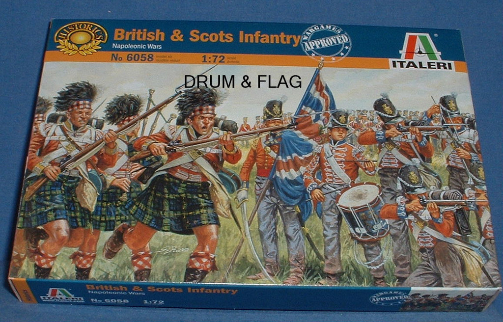 ITALERI 6058. BRITISH & SCOTS INFANTRY. 1:72 SCALE FIGURES. INCLUDES HIGHLANDERS
