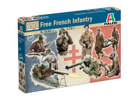 Italeri WW2 Free French Infantry. 1/72 Scale Plastic Figures