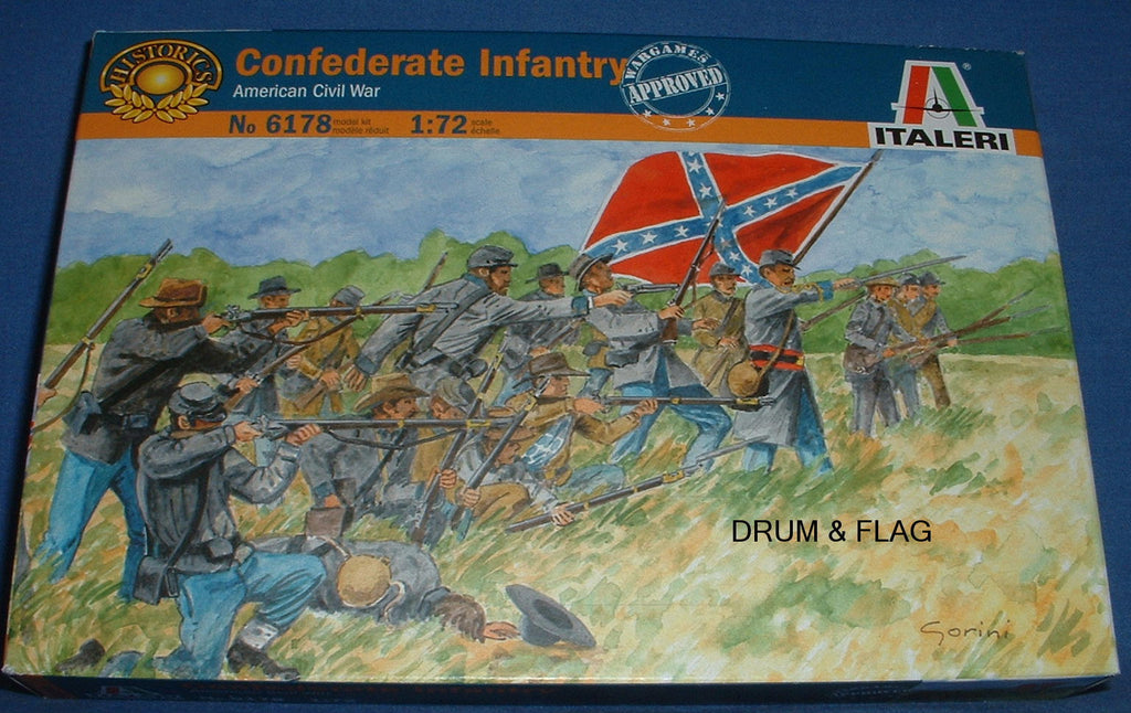 ITALERI 6178. CONFEDERATE INFANTRY. AMERICAN CIVIL WAR. 1:72 SCALE (Esci poses)
