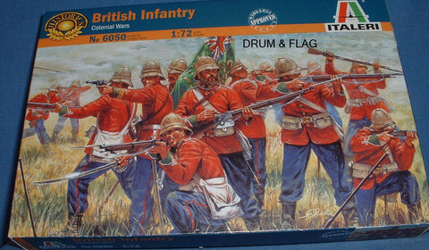 ITALERI 6050. BRITISH INFANTRY COLONIAL / ZULU WARS 1:72 SCALE UNPAINTED PLASTIC