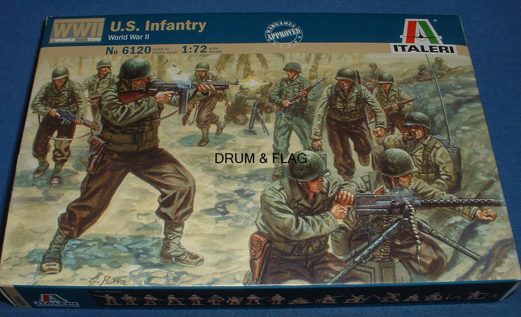 ITALERI Set 6120. U.S. INFANTRY. WW2. AMERICAN TROOPS. 1/72 Scale.