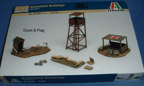 ITALERI 6130 WW2 BATTLEFIELD BUILDINGS 1:72 SCALE. ACCESSORIES. WATCH TOWER ETC.