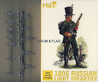 HAT 8073: 1805 RUSSIAN LIGHT INFANTRY. 1/72 SCALE