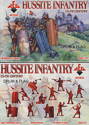 REDBOX 72039 HUSSITE INFANTRY 15th C. 1/72 SCALE 36 X PLASTIC FIGURES. HUSSITES