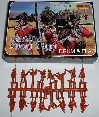 STRELETS M 70 NAPOLEONIC BRITISH LINE INFANTRY IN EGYPT 1/72 SCALE PLASTIC M070