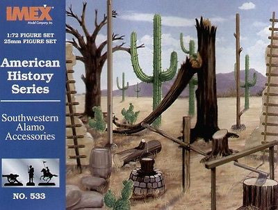 IMEX 533 SOUTHWESTERN ALAMO ACCESSORIES 1/72 SCALE