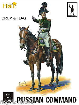 HAT 9322 NAPOLEONIC RUSSIAN COMMAND. 18 x 1/32 SCALE FIGURES (c54MM) x