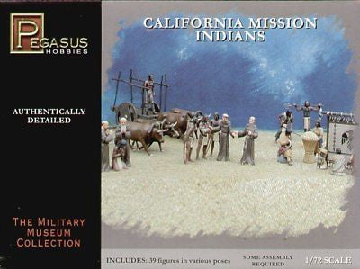 PEGASUS 7051. CALIFORNIA MISSION INDIANS. 1/72 SCALE