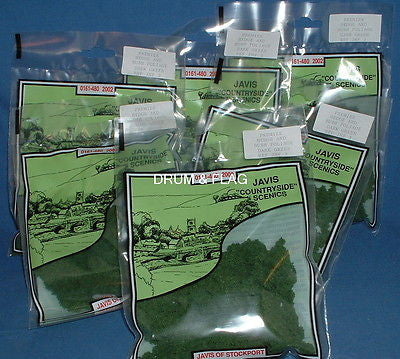 JAVIS - HEDGE & BUSH FOLIAGE - DARK GREEN - 20G BAG X 6. SIX BAGS.