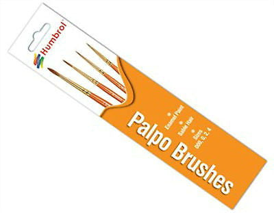 HUMBROL PALPO SABLE HAIR PAINT BRUSHES SIZES: 000 0 2 4 MIXED SIZE 4 BRUSH PACK