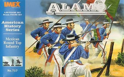 IMEX 717 MEXICAN ROUND TOP / HAT INFANTRY 1:32 SCALE THE ALAMO 54mm MEXICANS