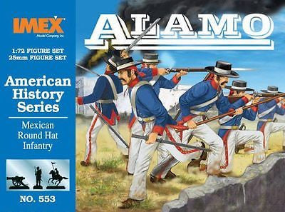 IMEX 553. ALAMO MEXICAN ROUND HAT INFANTRY 1/72 SCALE