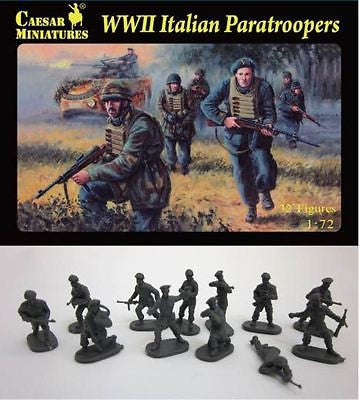 CAESAR 75 - WWII ITALIAN PARATROOPERS - 1:72 SCALE x 32 PARATROOPS WW2 ITALIANS
