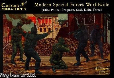 CAESAR 61 MODERN SPECIAL FORCES WORLDWIDE. 1/72 Scale Plastic Figures.