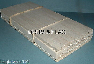 BALSA WOOD OFFCUT BUNDLE. VARIOUS THICKNESS & WIDTH. c22cm LONG. 10 Pieces or so
