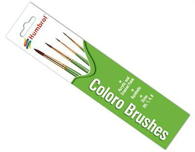HUMBROL COLORO SYNTHETIC PAINT BRUSHES SIZES: 00 1 4 8 MIXED SIZE 4 BRUSH PACK