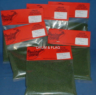 JAVIS - HEATH GREEN FLOCK - SCATTER - 45G BAG x 6. SIX BAGS