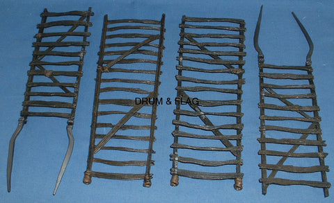 URUK-HAI SIEGE LADDERS X 2 - PLAY ALONG HELMS DEEP PARTS. LOTR AOME (ARMIES OF MIDDLE EARTH).