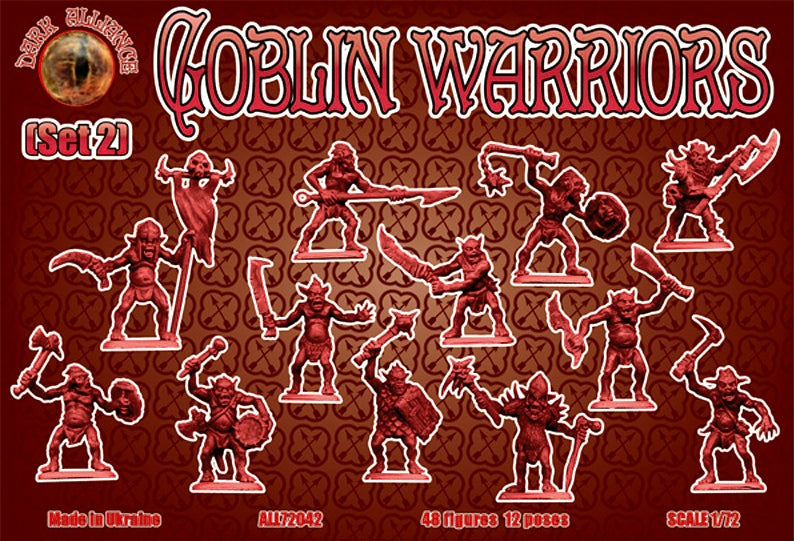 DARK ALLIANCE 72042 GOBLIN WARRIORS SET #2 - GOBLINS - 1/72 SCALE