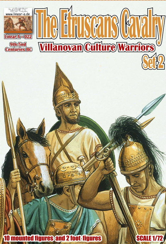 "022 The Etruscans Cavalry Set 2 ""Villanovan Culture Warriors"" 9th-5th Centuries B.C."