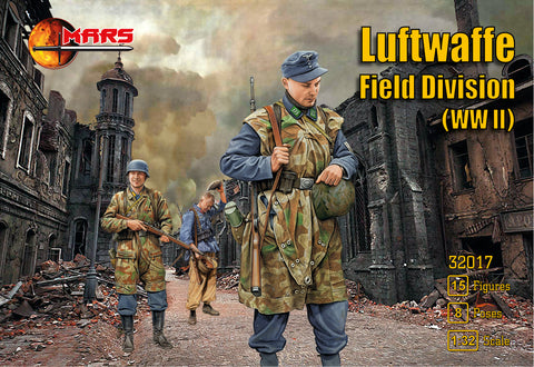 Mars 32017. German Luftwaffe Field Division WWII. Plastic 1/32 Scale Figures.