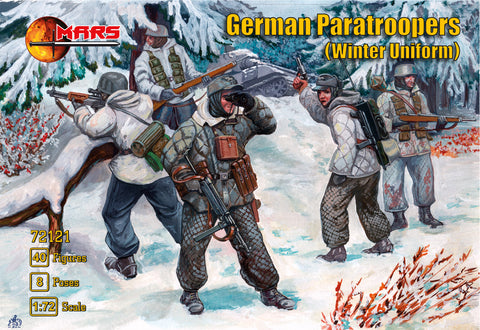 Mars 72121 German Paratroopers in Winter Uniform WWII. Plastic 1/72 Scale Figures.