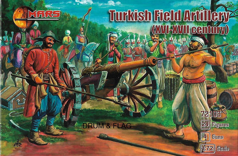 MARS 72103 TURKISH FIELD ARTILLERY. XVI-XVII Century. 1/72 SCALE